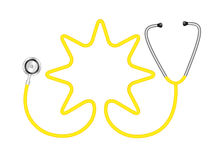 Stethoscope in shape of star Stock Images