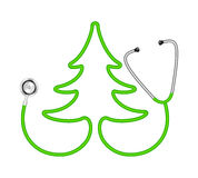 Stethoscope in shape of tree Stock Image
