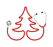 Stethoscope in shape of tree Stock Photography