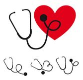 Stethoscope silhouette Royalty Free Stock Photos