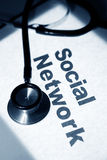 Stethoscope and Social Network Stock Photos