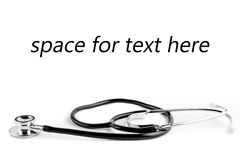 Stethoscope with space for text Stock Images