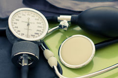 Stethoscope and sphygmomanometer Stock Images