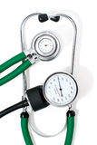 Stethoscope and sphygmomanometer Royalty Free Stock Images