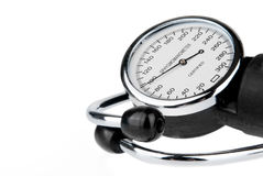 Stethoscope and sphygmomanometer isolated Royalty Free Stock Photos