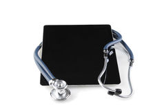 Stethoscope and Tablet Computer Stock Photos