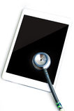 Stethoscope with tablet computer Royalty Free Stock Image