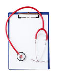 Stethoscope with tablet for notes Stock Photos