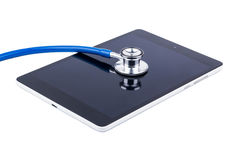 Stethoscope and tablet Royalty Free Stock Photo