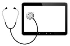 Stethoscope with tablet Royalty Free Stock Images