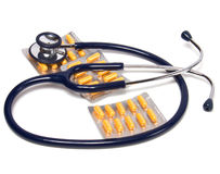 Stethoscope and tablets Royalty Free Stock Photography