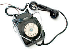 Stethoscope and telephone Stock Photo