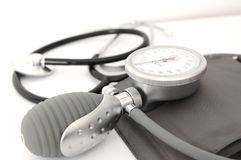 Stethoscope and tension Stock Images