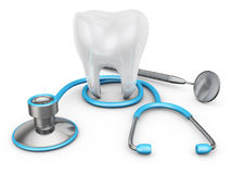 Stethoscope and  tooth Royalty Free Stock Photography