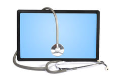 Stethoscope and  touchpad Royalty Free Stock Photo
