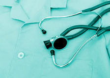 Stethoscope On Uniform Royalty Free Stock Photo