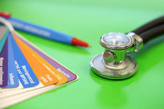 Stethoscope and vaccinations Stock Photography