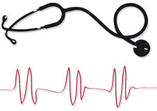 Stethoscope (vector) Royalty Free Stock Images