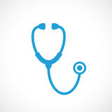 Stethoscope vector icon. On white background Royalty Free Stock Photography