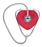 Stethoscope and velvet heart. Stock Photos