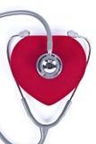 Stethoscope and velvet heart. Stock Photography