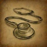 Stethoscope vintage grunge vector illustration