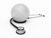 Stethoscope and volleyball Stock Images
