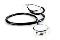 Stethoscope on white background Royalty Free Stock Photos