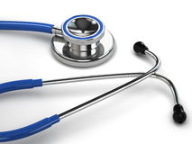 Stethoscope on white  background. Royalty Free Stock Photos