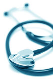 Stethoscope on white background (blue toned) Royalty Free Stock Photo