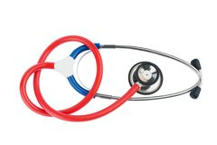 Stethoscope on a white background Royalty Free Stock Photography