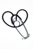 Stethoscope on White in Heart Shape Stock Photos