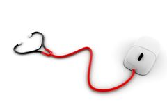 Stethoscope With A Computer Mouse Royalty Free Stock Photo