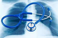 Stethoscope and X-ray. Royalty Free Stock Photos
