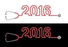 Stethoscope year 2016 Stock Images