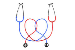 Stethoscopes in heart shape Royalty Free Stock Photos