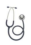 Stethoskop auf dem weißen Hintergrund lokalisiert Lizenzfreie Stockfotografie