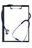 Stethoskop, das herum Auflage verdreht Lizenzfreie Stockfotos