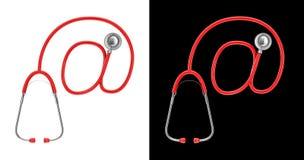 Stethoskop-E-Mail-Konzept Lizenzfreies Stockfoto