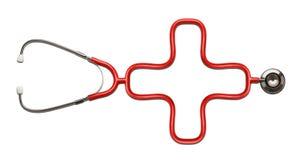 Stethoskop-Kreuz Lizenzfreie Stockfotografie