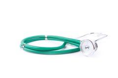 Stethoskop getrennt auf Weiß Lizenzfreie Stockfotografie