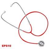 Stethoskop realistisch Auf weißem Hintergrund Stockbild