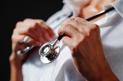 Stethoskop um Stutzen Stockfotografie