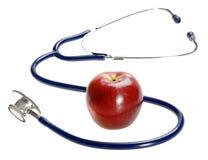 Stethoskop und Apfel 2 Stockfoto