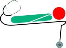 Stethoskop und Patient Stockfotos