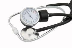 Stethoskop und tonometer lizenzfreie stockbilder