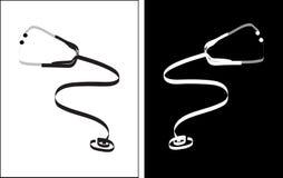 Stethoskopfreihandzeichnenzeichnung Stockbilder