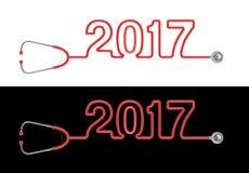 Stethoskopjahr 2017 Lizenzfreies Stockfoto