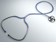 Stetoscopio, auscultazione cardiaca dello strumento Fotografie Stock Libere da Diritti