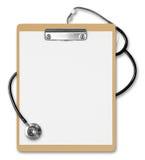 Stetoscopio dei appunti Fotografia Stock